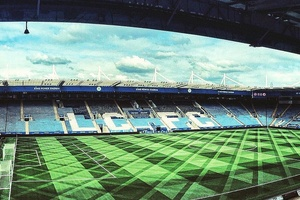 Leicester's pitch ahead of today's game is spectacular... #football #soccer #premierleague #leiceste