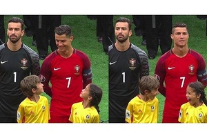 When you meet your heroes... #football #soccer #euro2016 #ronaldo #portugal #england #france #german