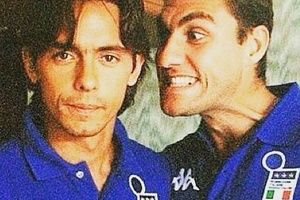 Filippo Inzaghi and Christian Vieri, two Italian giants... #football #soccer #inzaghi #vieri #azzuri