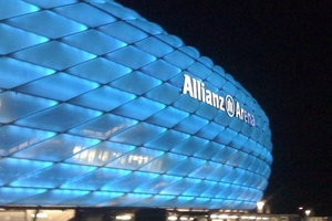 Allianz Arena, Munich. 69,901 (seating and standing) 65,000 (seating only).