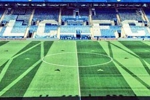 That Leicester groundsman has been at it again. Winning off and on the field! Genius! #football #soc