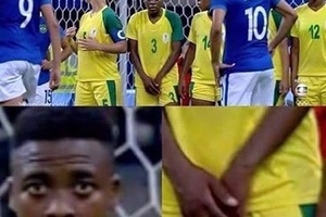 SPOTTED: Suspicious looking woman at South Africa vs Brazil.. #football #soccer #brasil #brazil #sou