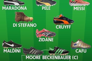 An all time World XI and their boots... #football #soccer #epl #bpl #premierleague #mufc #mcfc #cfc