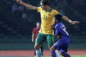 Australia U16's v Cambodia U16's. Seems fair.... #football #soccer