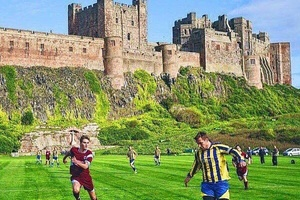 Bamburgh FC with one of the sweetest grounds around... #football #soccer #premierleague #championsle
