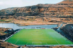This stunner from the Faroe Islands... #football #soccer #mufc #mcfc #afc #lfc #cfc #thfc #lufc #nuf