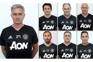 Man Utd's coaching team looking like the mugshots of a Mexican drug cartel. #football #soccer #euro2