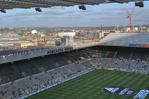 Up with the Gods at St James Park, Newcastle (52,381).