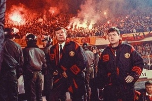 Welcome to the hell! Man Utd v Galatasary  back when... #football #soccer #manchesterunited #galatas
