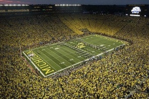 College football team Michigan Wolverines get an average attendance of 110,168 per game.. Incredible