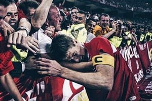 Great shot of Gerrard on That night in Istanbul.... #football #soccer #gerrard #lfc
