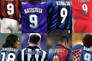 Eight of the best Number 9's from the 90s.... #football #soccer #milan #milano #intermilan #barca #b