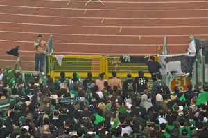 Panathinaikos Fans In Rome