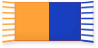 Orange and Blue football scarf