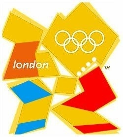 Lisa and Homer Simpson doing rude things in Olimpics logo