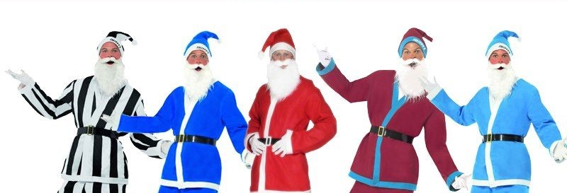 Santas in football suits