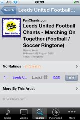 how to add football chants as ringtones to iPhone
