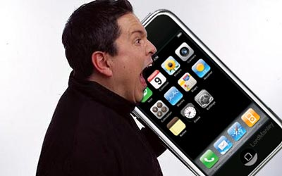 Dom Joly on phone